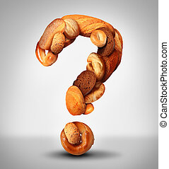 Bread Question - Bread questions food concept with a group ...