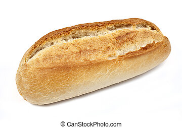 Bread Roll on a white background.