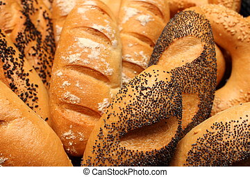 bread roll with poppy seeds