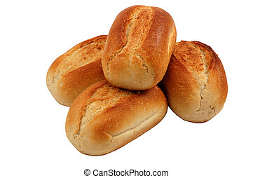Bread Rolls isolated over white background