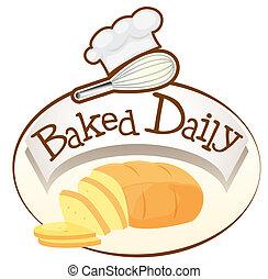 bread, sült, napi, címke