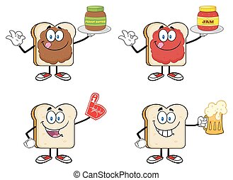 Bread Slice Characters Collection 2