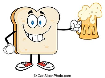 Bread Slice Holding A Beer Glass
