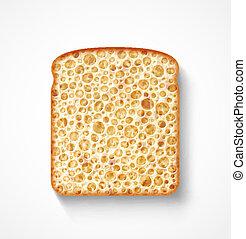 Bread slice - Isolated bread slice, eps 10