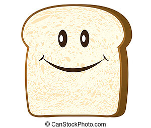 Bread slice isolated on white,