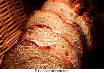Bread - Sliced bread in warm light