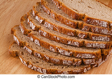 bread slices of dark bread - several slices of dark bread...