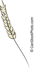 Bread spike, illustration, vector on white background.