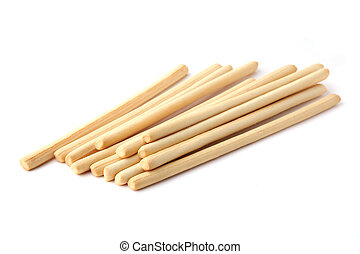 Bread sticks isolated on white background.