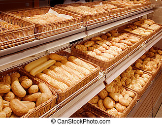 bread, supermercado, variedad