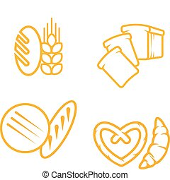 Bread symbols - Set of bread and bakery symbols for design