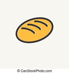 Bread thin line icon - Bread icon thin line for web and ...