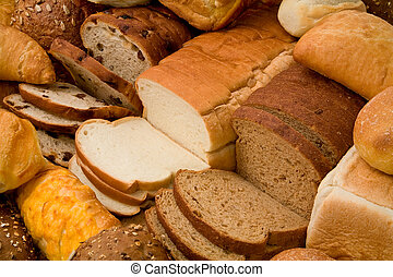 Bread - This is a close-up of various types of bread.
