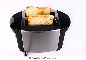Bread Toast in Toaster Machine