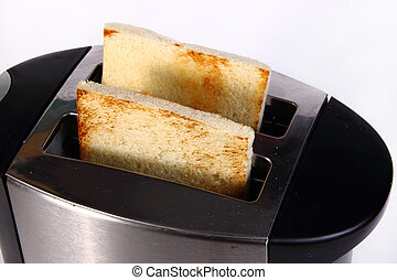 Bread Toast in Toaster Machine