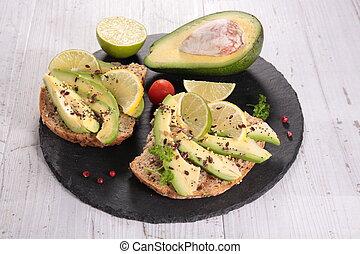 bread toast with avocado