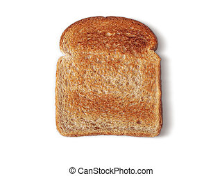Bread Toasted no butter - Whole Wheat bread, butter removed....