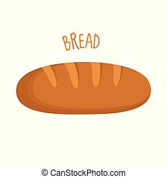 Bread vector illustration isolated
