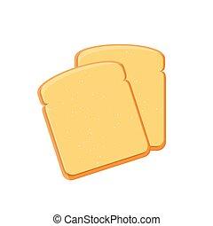 bread, vektor, toast
