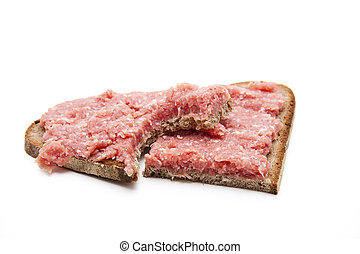 Bread with minced meat