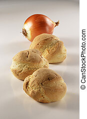 Bread with onions