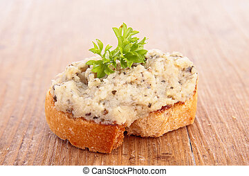 bread with tapenade