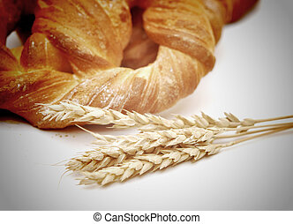 bread with wheat ears