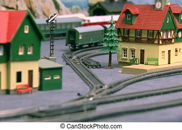 Breadboard model of the railway (part21)  NTSC