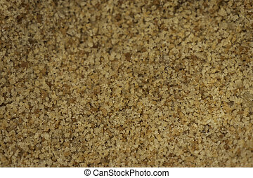 Breadcrumbs in the close up