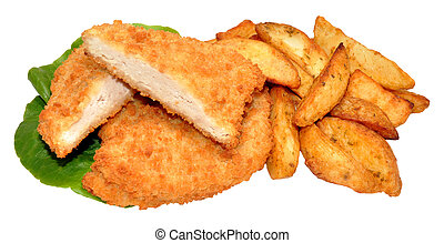 Breaded Chicken Breast Fillets And - Bread crumb coated...