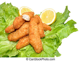 Breaded Chicken Goujons - Golden breaded chicken goujons...