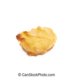 Breaded chicken nugget composition isolated - Breaded...