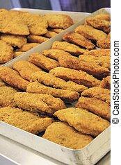 breaded food - breaded chicken potato cakes