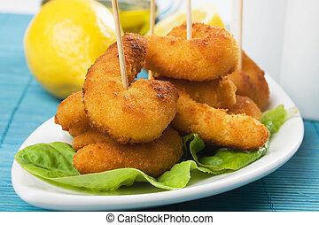 Breaded shrimp snack