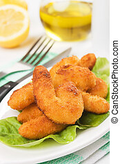Breaded shrimp snack