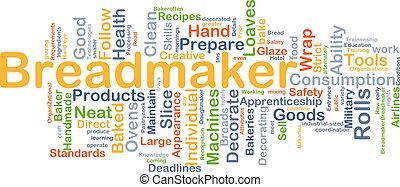 breadmaker, plano de fondo, concepto