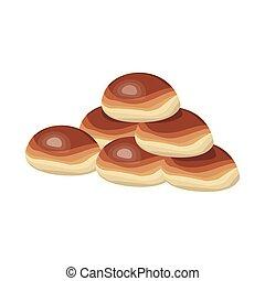 breads icon, colorful design