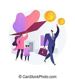 Breadwinner abstract concept vector illustration. Earn money...