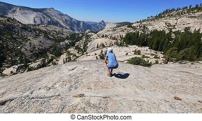 Break after Yosemite hiking