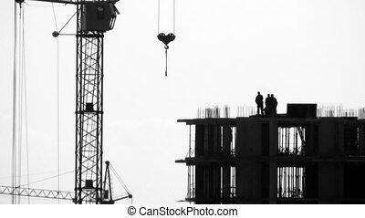 Break at a construction site