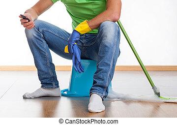 Break at housework