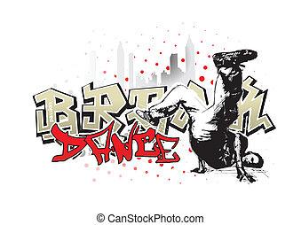 break dance 2 - break dance background in the vectors