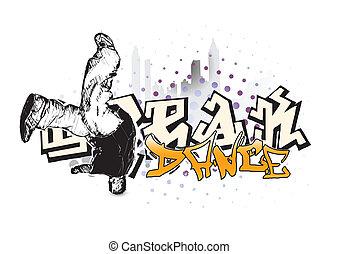 break dance background in the vectors