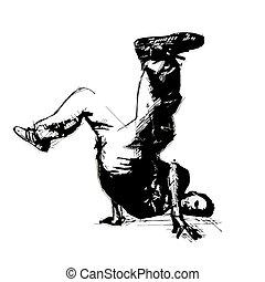 break dancer - sketching of the
