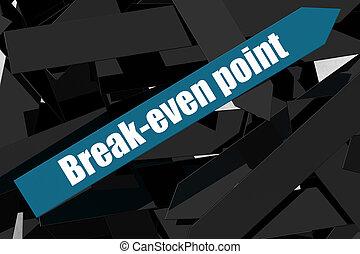 break-even, 青, ポイント, 矢, 単語