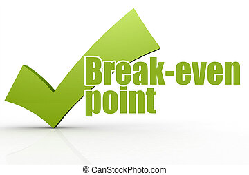 break-even, checkmark, 単語, 緑, ポイント