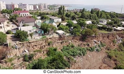 Break in the ground after an earthquake in Chernomorsk,...