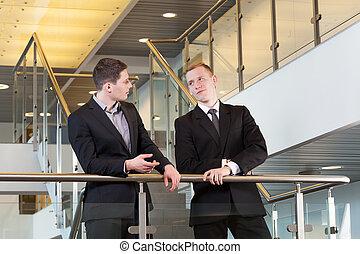 Break in work in business centre