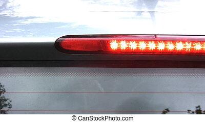 Break lights - The break lights of a car