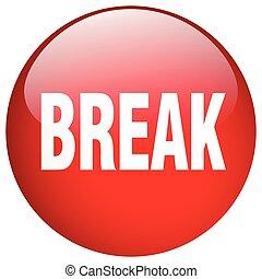 break red round gel isolated push button